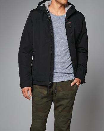 ANF Fleece-Lined Hooded Jacket