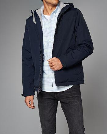 ANF Fleece-Lined Hooded Jacket