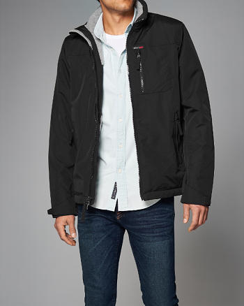 ANF Fleece-Lined Mock Neck Jacket