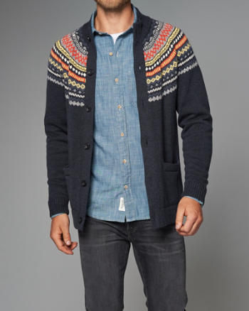 Mens Button-Up Cardigan