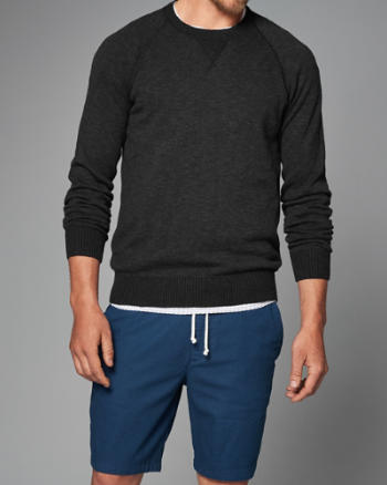 Mens Contrast Crew Sweater