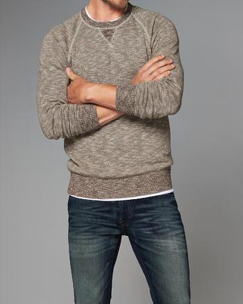 ANF Contrast Crew Sweater