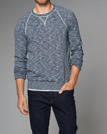 ANF Contrast Crew Sweater