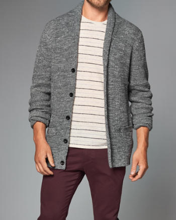 Mens Shawl Cardigan