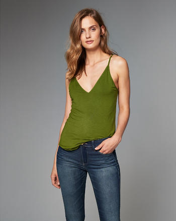 ANF Strappy V-Neck Cami