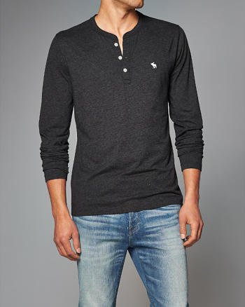 ANF Long Sleeve Icon Henley