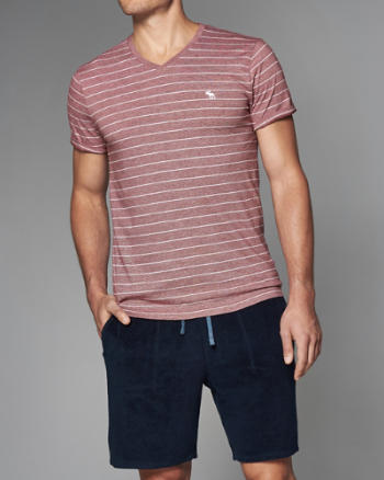 Mens Striped Icon Pocket Tee