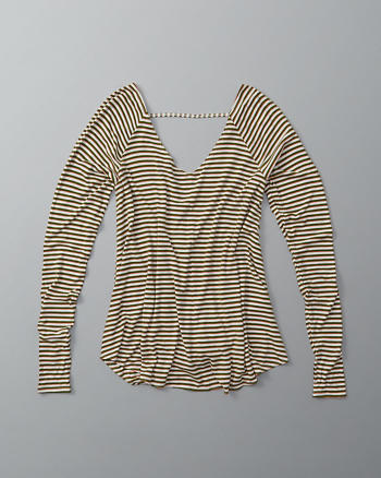 ANF Wrap Back Long-Sleeve Top