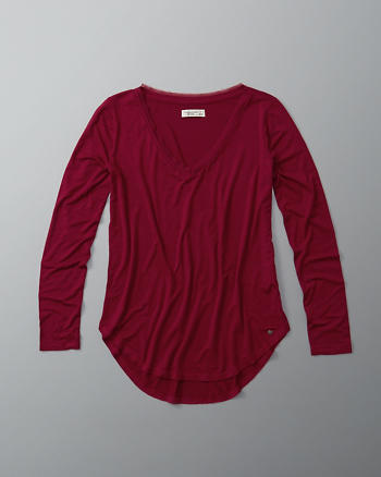 ANF Long-Sleeve V-Neck Top
