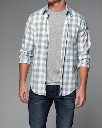 ANF Plaid Poplin Shirt