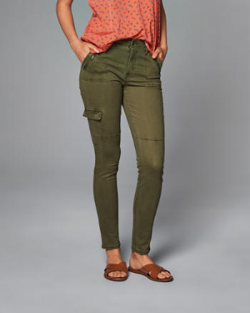ANF Super Skinny Military Pants
