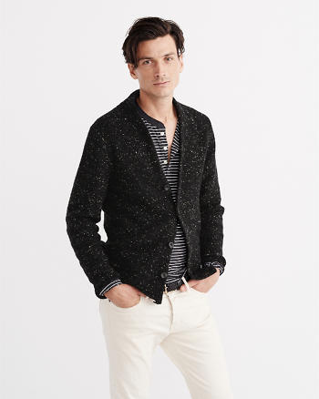 ANF Wool-Blend Button-Up Cardigan