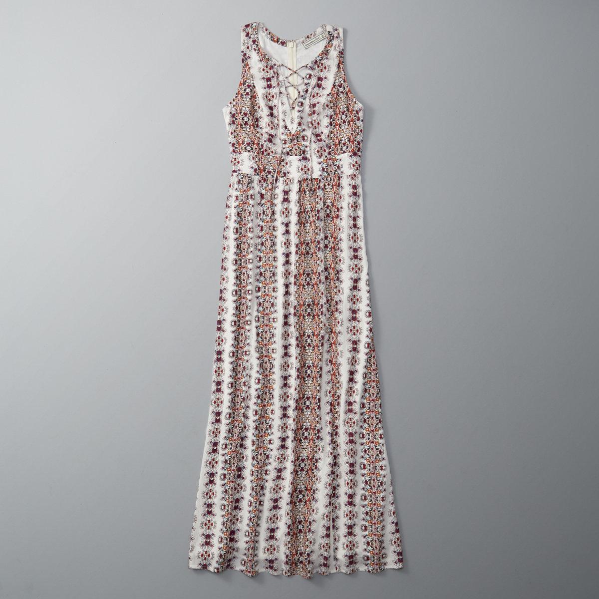 Lace Up Maxi Dress