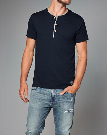 ANF Vintage Athletic Henley
