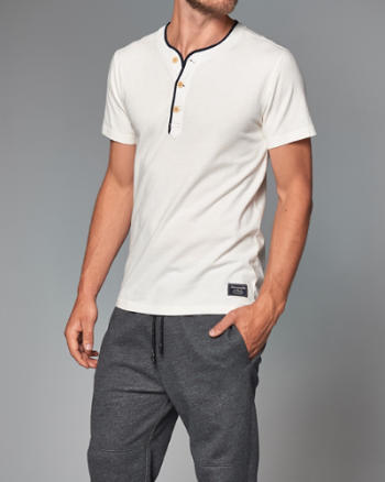 Mens Vintage Athletic Henley