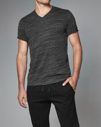 Mens Space Dye V-Neck Tee