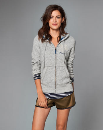 Womens Paris Flagship Exclusive Full-Zip Hoodie
