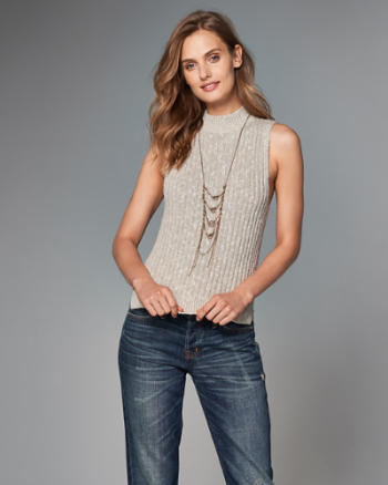 Womens Mock Neck Tank