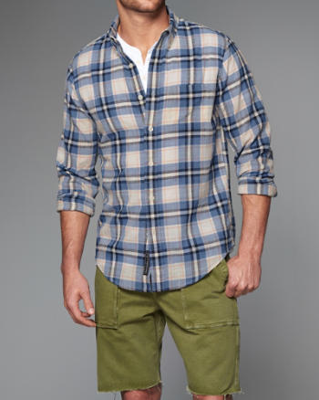 Mens Plaid Gauze Shirt