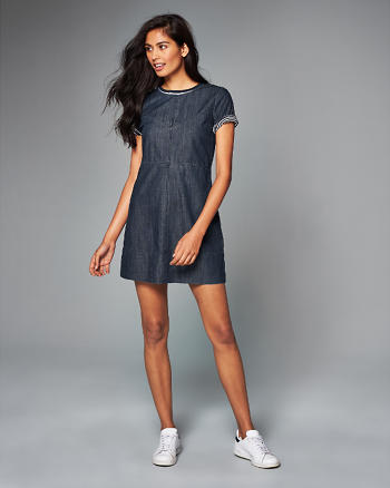 ANF Denim Shift Dress