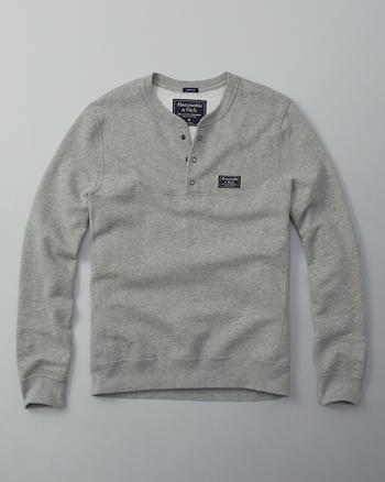 ANF Snap Henley Sweatshirt