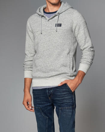 ANF Logo Henley Hoodie