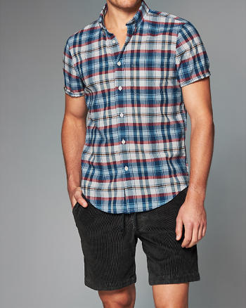 ANF Patterned Madras Shirt