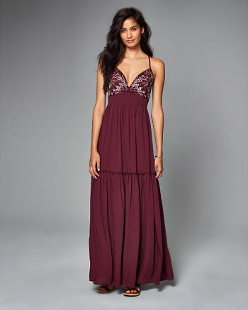 ANF Embroidered Maxi Dress