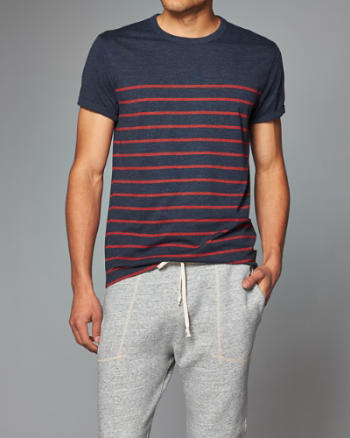 Mens Striped Crew Tee