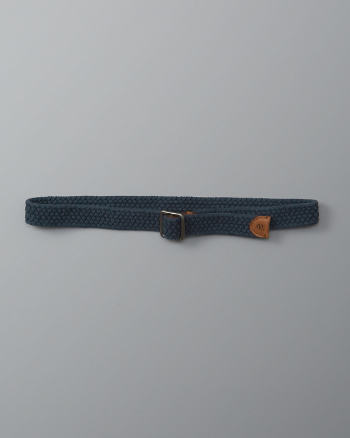 Mens Braided Pull Through Belt
