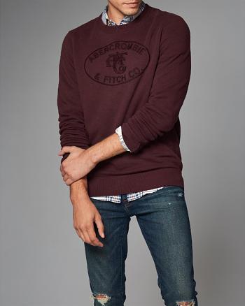 ANF Heritage Logo Crew Sweatshirt