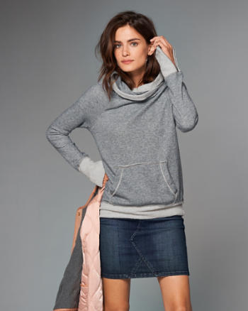 Womens Funnel Neck Sweatshirt
