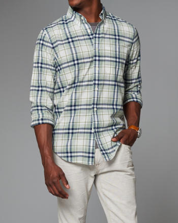 Mens Plaid Madras Shirt