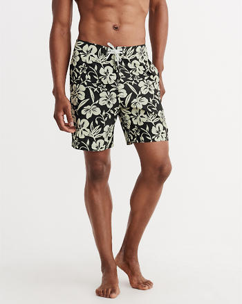 ANF 7 Inch Patterned Cargo Board Shorts