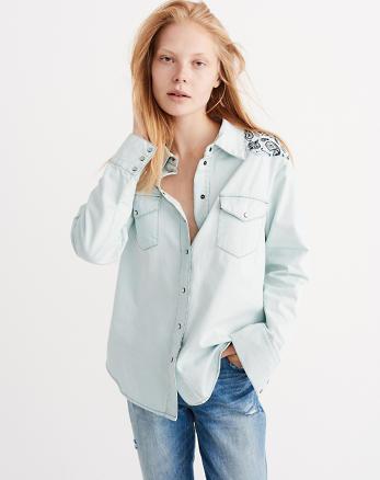ANF OneTeaspoon Pine Zepplin Shirt