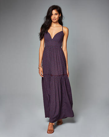 ANF Printed Tiered Maxi Dress