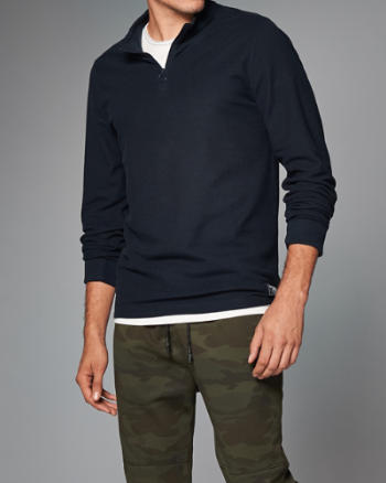 Mens Zip Henley