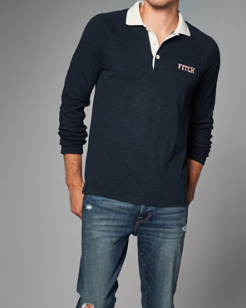 ANF Logo Long-Sleeve Polo