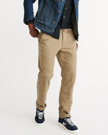 ANF Slim Straight Chino Pants