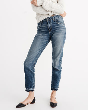Womens Ankle Straight Jeans