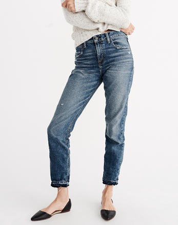 ANF Ankle Straight Jeans