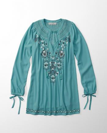 ANF Embellished Tunic Dress