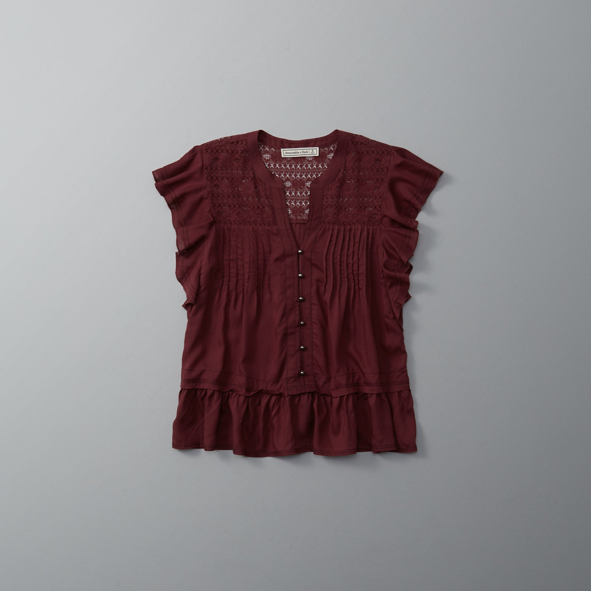 Ruffle Button-Front Top