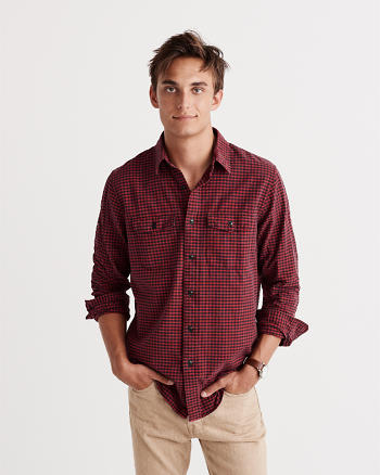 ANF Relaxed Fit Washed Oxford Shirt