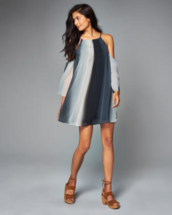ANF Cold Shoulder Shift Dress