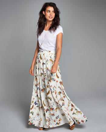 ANF Patterned Maxi Skirt