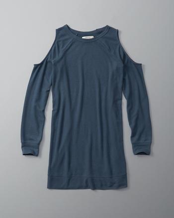 ANF Cold Shoulder Shift Dress