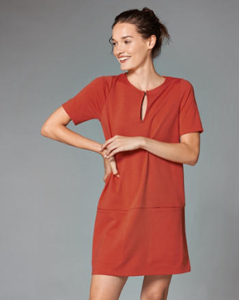 Womens Pocket Ponte Shift Dress