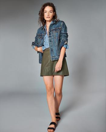 ANF Zipper A-Line Skirt