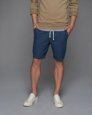ANF Classic Fit Linen Pull-On Shorts